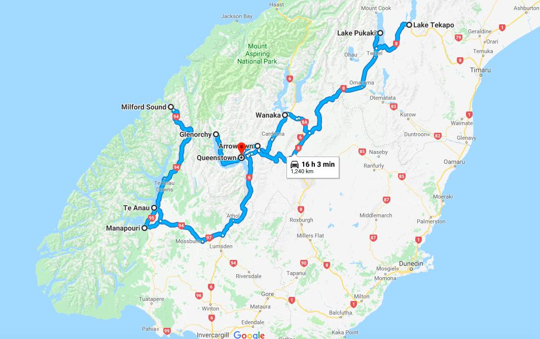 New Zealand Road Map South Island.South Island New Zealand A 10 Day Self Drive Itinerary Lipstick