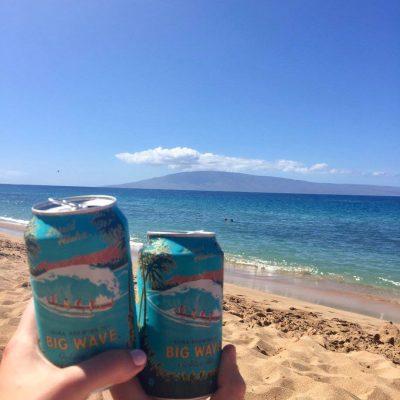 Beers on Kaanapali Beach in Maui