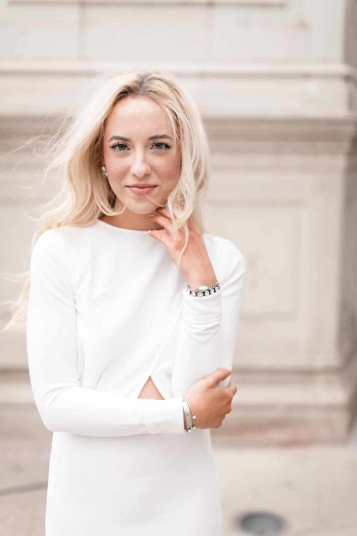 Alyssa Bove shines in white.