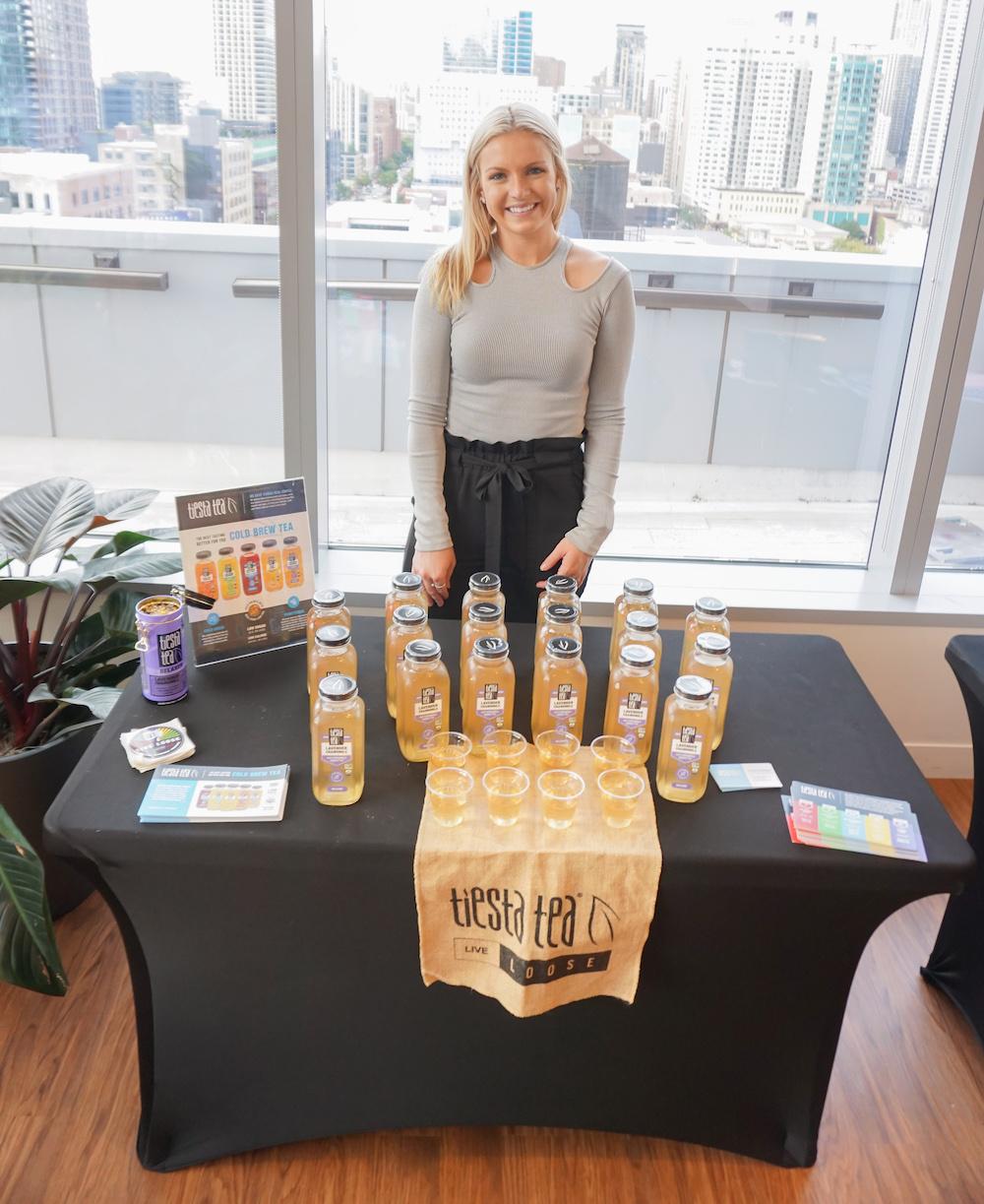 Rachel of Tiesta Tea at the event