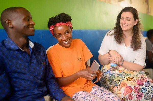 Smiles at HHC Rwanda Community Hub.