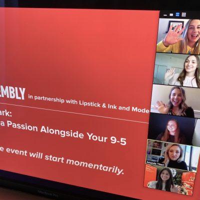 Making Your Mark: Pursue a Passion Alongside Your 9-5 – April 30, 2020