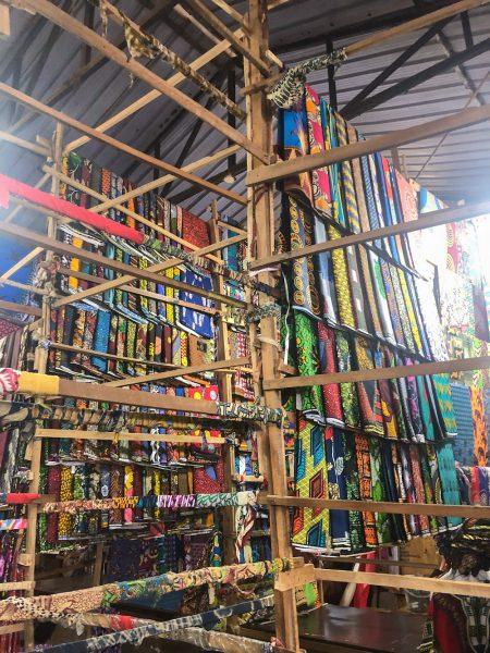 Kimironko Market textiles.